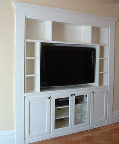 Could Build Shelves Back Into Space Behind The False Wall House - Tv false wall