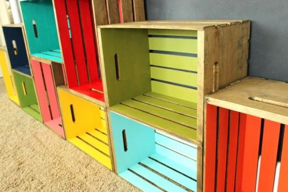 Diy Wood Crate Bookcase Wooden Crate Shelves Diy Wooden Crate Crate Bookshelf