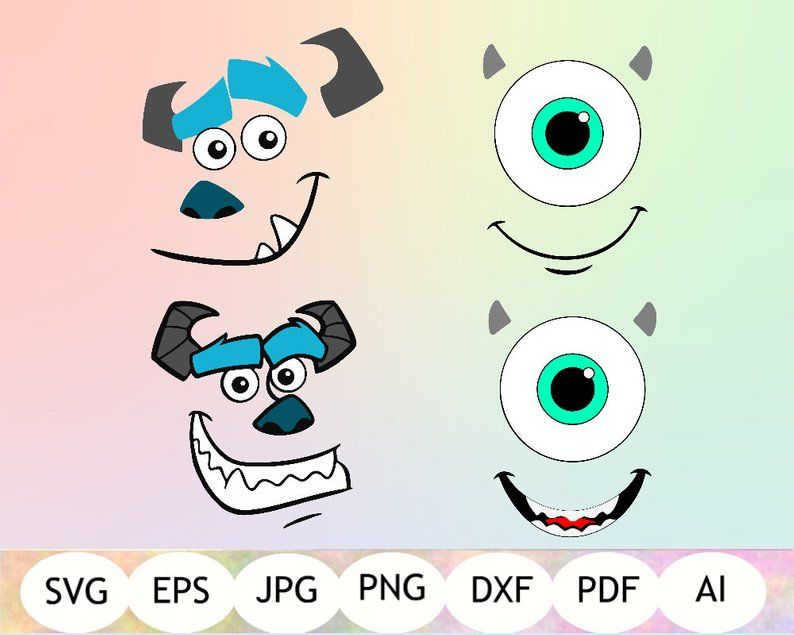 Sully And Mike S Face Svg Monsters Inc Svg Sully Face Etsy Monsters Inc Crafts Monster Inc Costumes Sully Monsters Inc