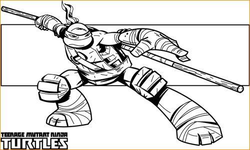 Teenage Mutant Ninja Turtle Coloring Page   Free (minus ink ...