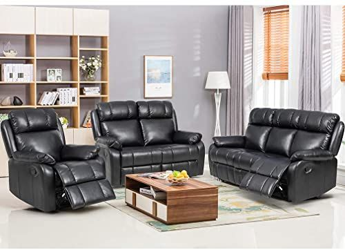 New Fdw Recliner Sofa Set Sectional Sofa Living Room Furniture Pu