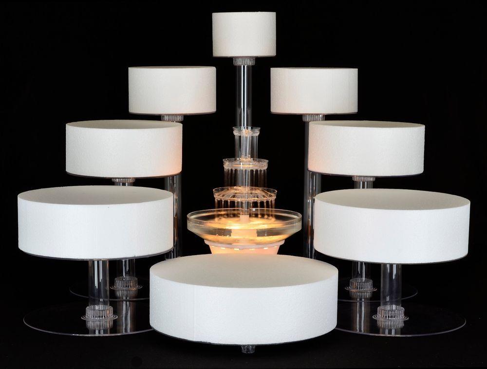 8 tier cascade wedding cake stand or cake fountain Wedding cake