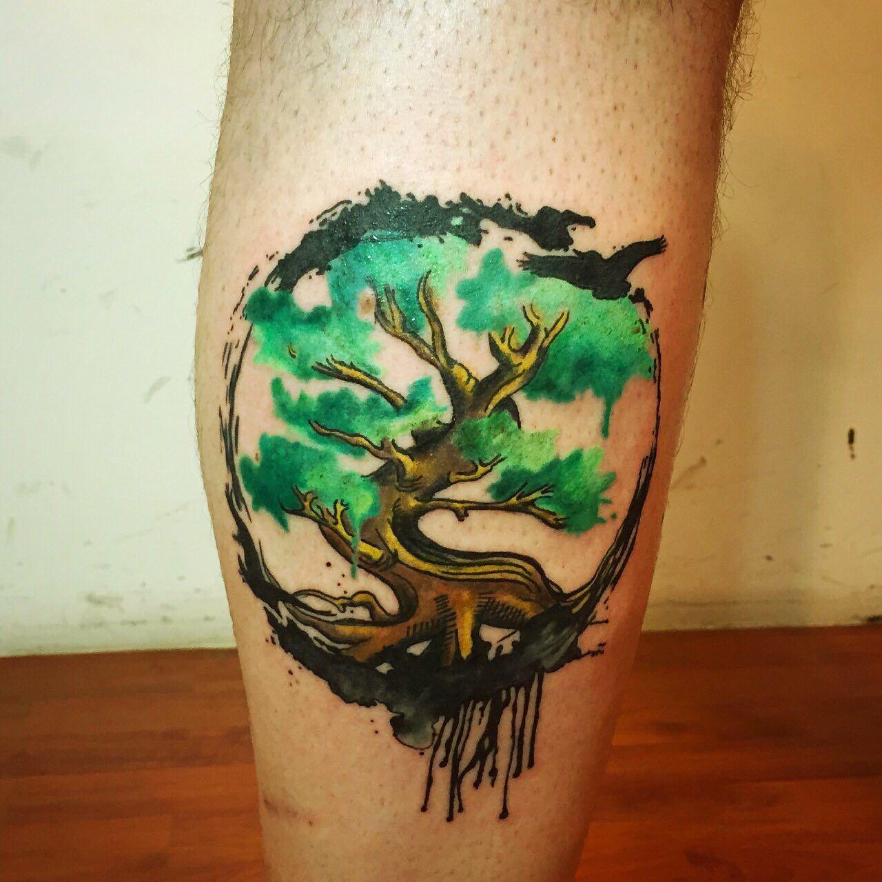 c29f0ce7cbb38 Yggdrasil Tattoo | Tattoos | Yggdrasil tattoo, Watercolor tattoo ...