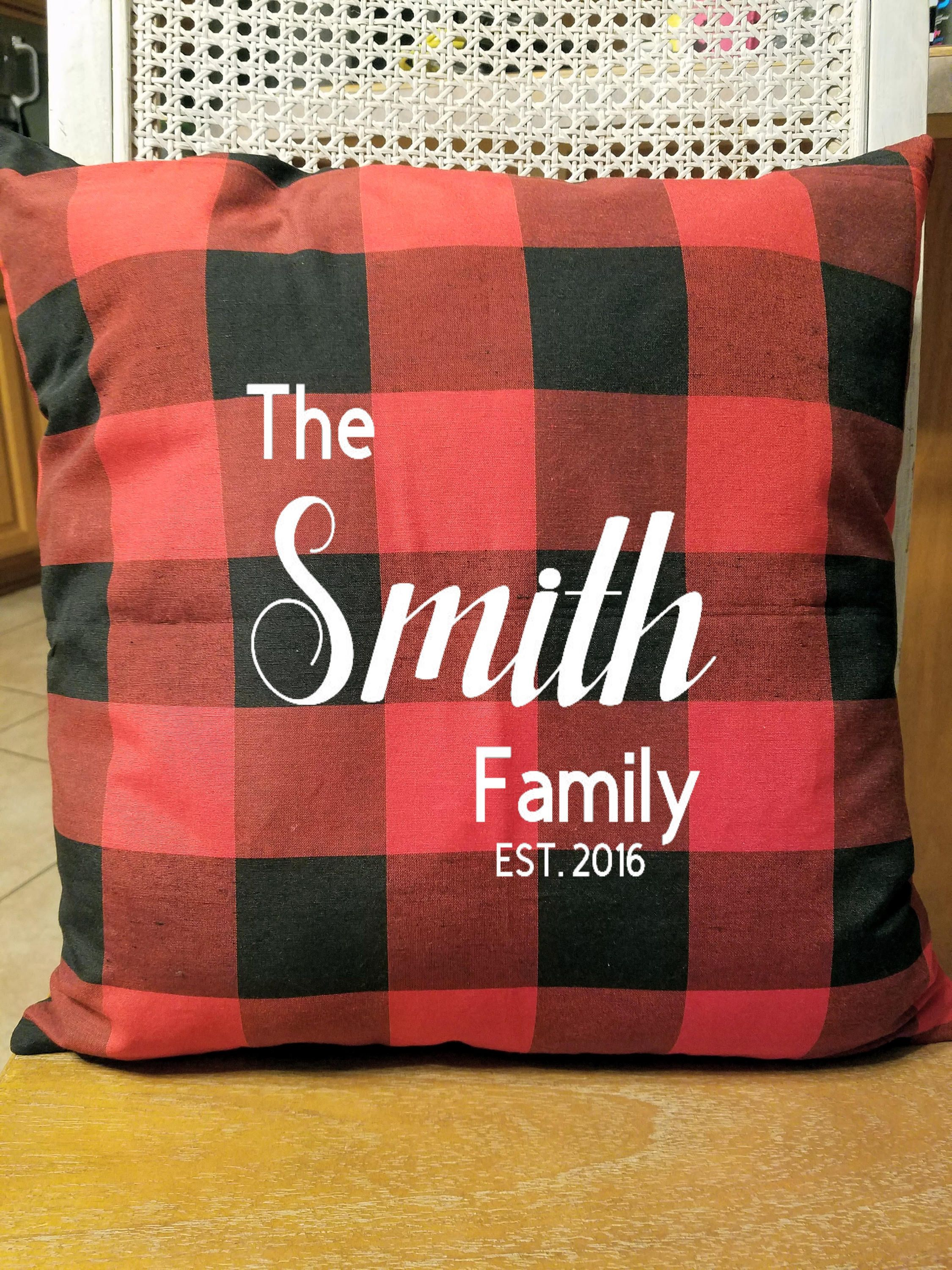 Red buffalo plaid pillow pillow insert included custom pillows