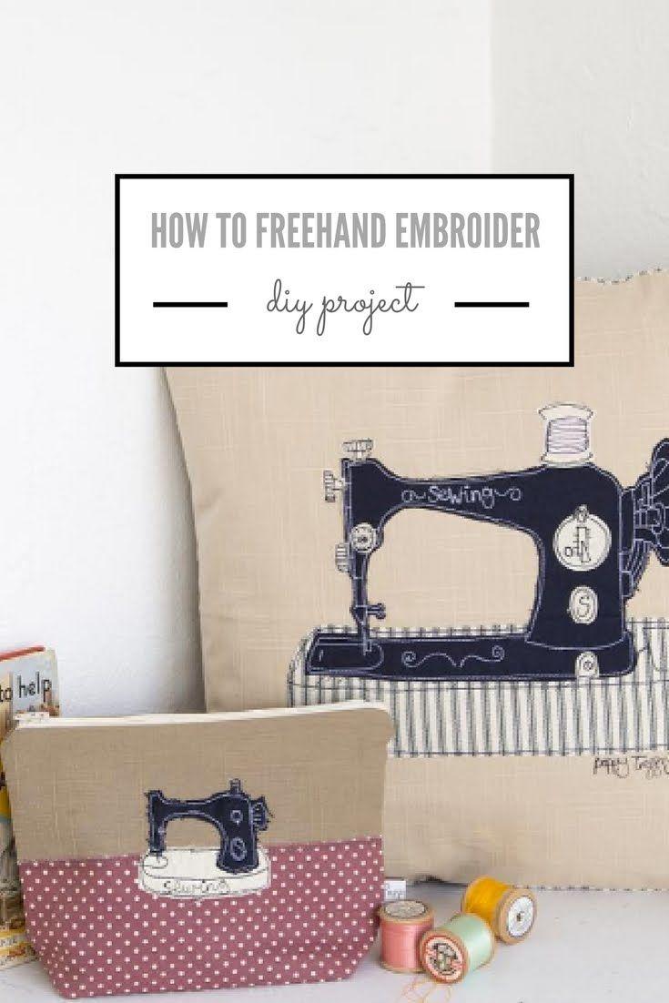 Embroidery Poppy Treffry Machine Embroidery Pinterest
