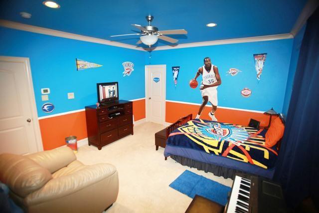 oklahoma city thunder d cor bedroom idea okc thunder kids rooms
