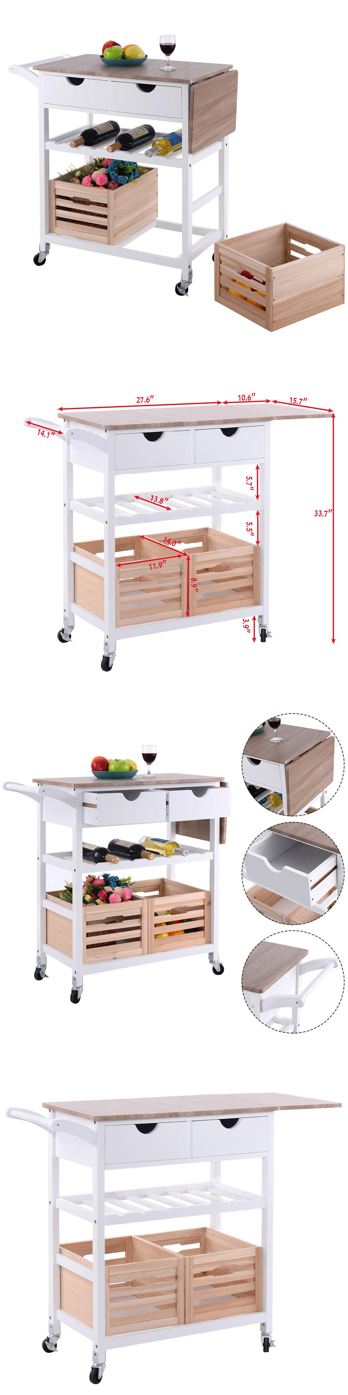 Kitchen Islands Kitchen Carts Rolling Kitchen Trolley Island