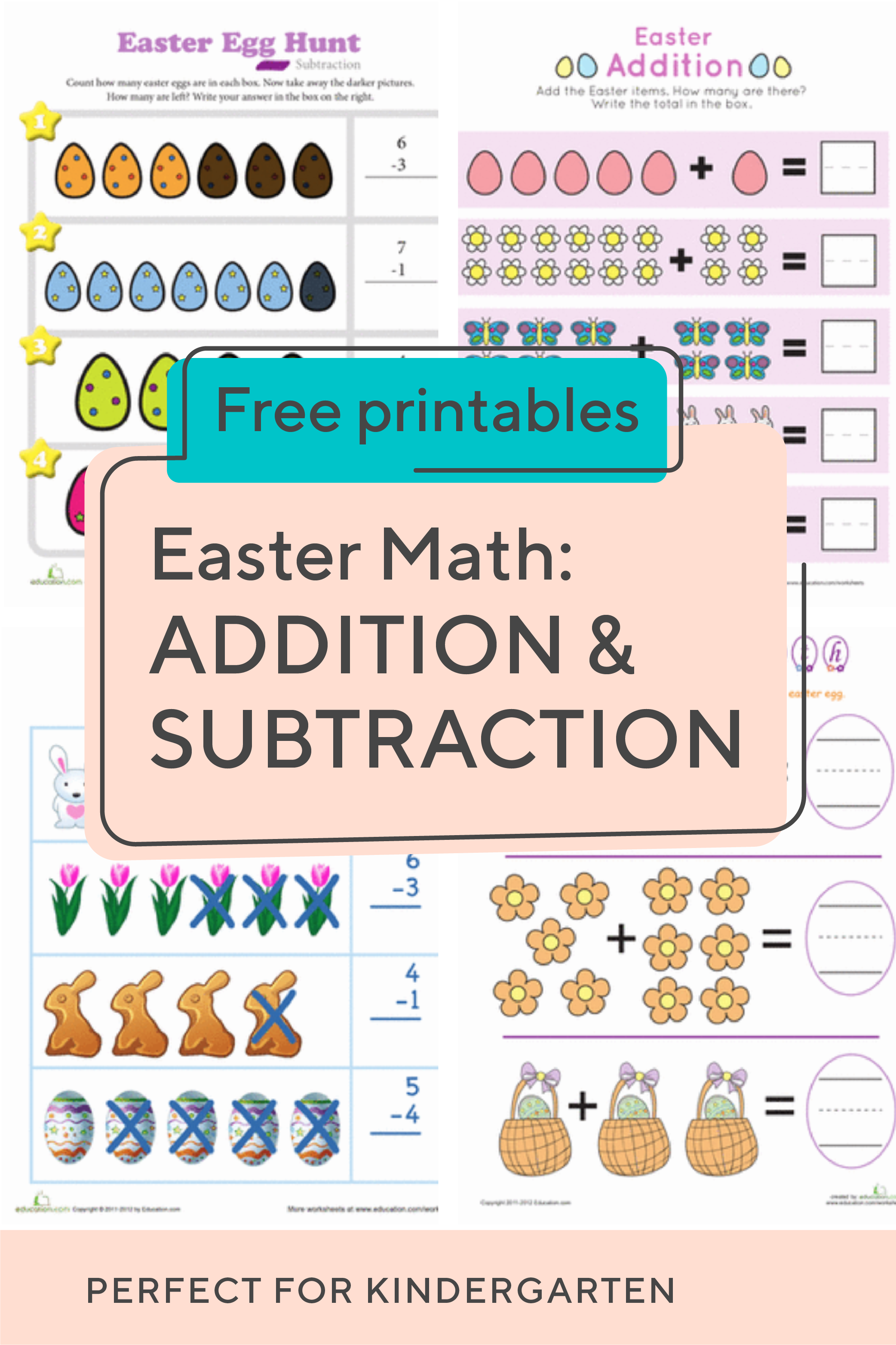 Spring Into The Season With This Collection Of Kindergarten Easter Addition And Subtraction Work Easter Math Addition And Subtraction Teaching Subtraction [ 3126 x 2084 Pixel ]