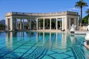 How to See Hearst Castle in San Simeon California: Neptune Pool at Hearst Castle, San Simeon