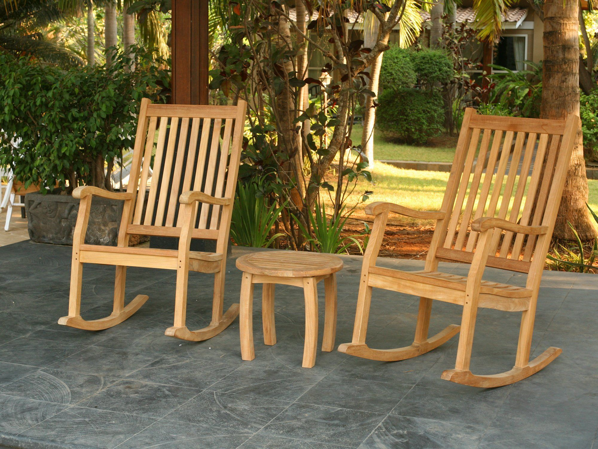 Outdoor Rocking Chairs Teak Patio Furniture Sets Products