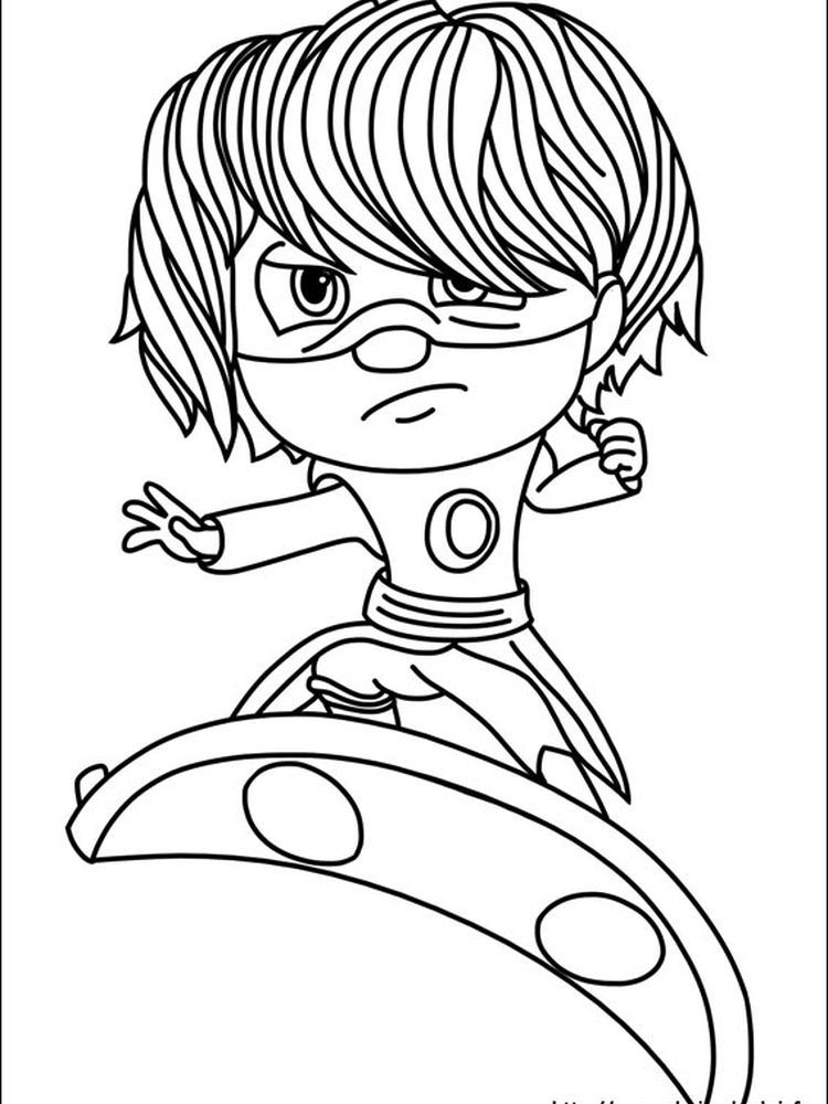 Gekko Pj Mask Coloring Page Pj Masks Coloring Pages Coloring