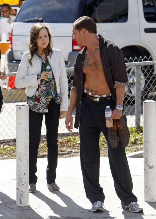 Tom Hardy with Ellen Page - Inception