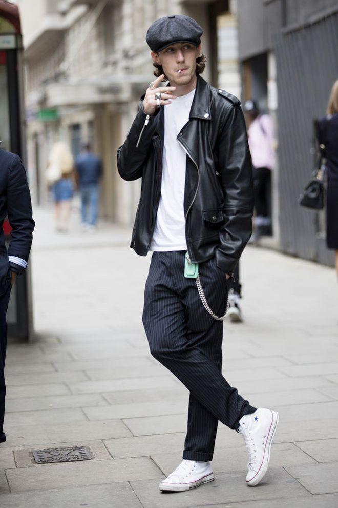 Street looks from Menswear Fashion Week Spring/Summer 2016 London 52