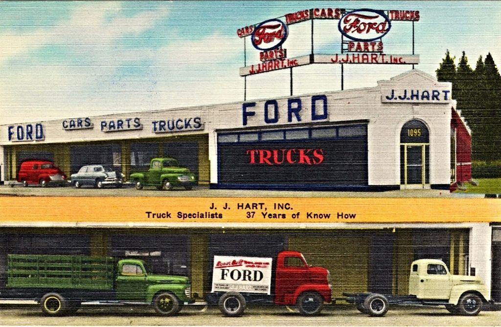 1949 J J Hart Inc Ford Dealership Brooklyn New York Ford