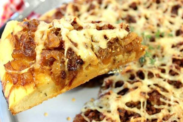 French Onion Pizza - www.kudoskitchenbyrenee.com