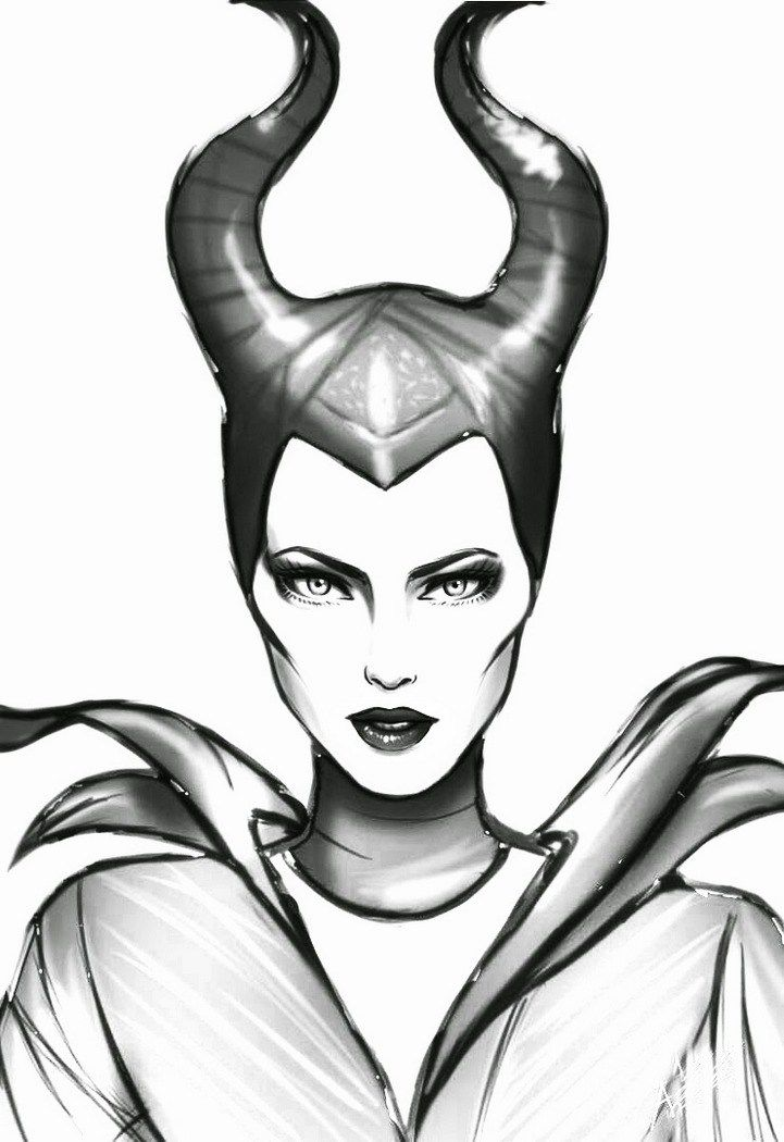 Maleficent Disney Esbocos Disney Malevola Desenho Desenhos A