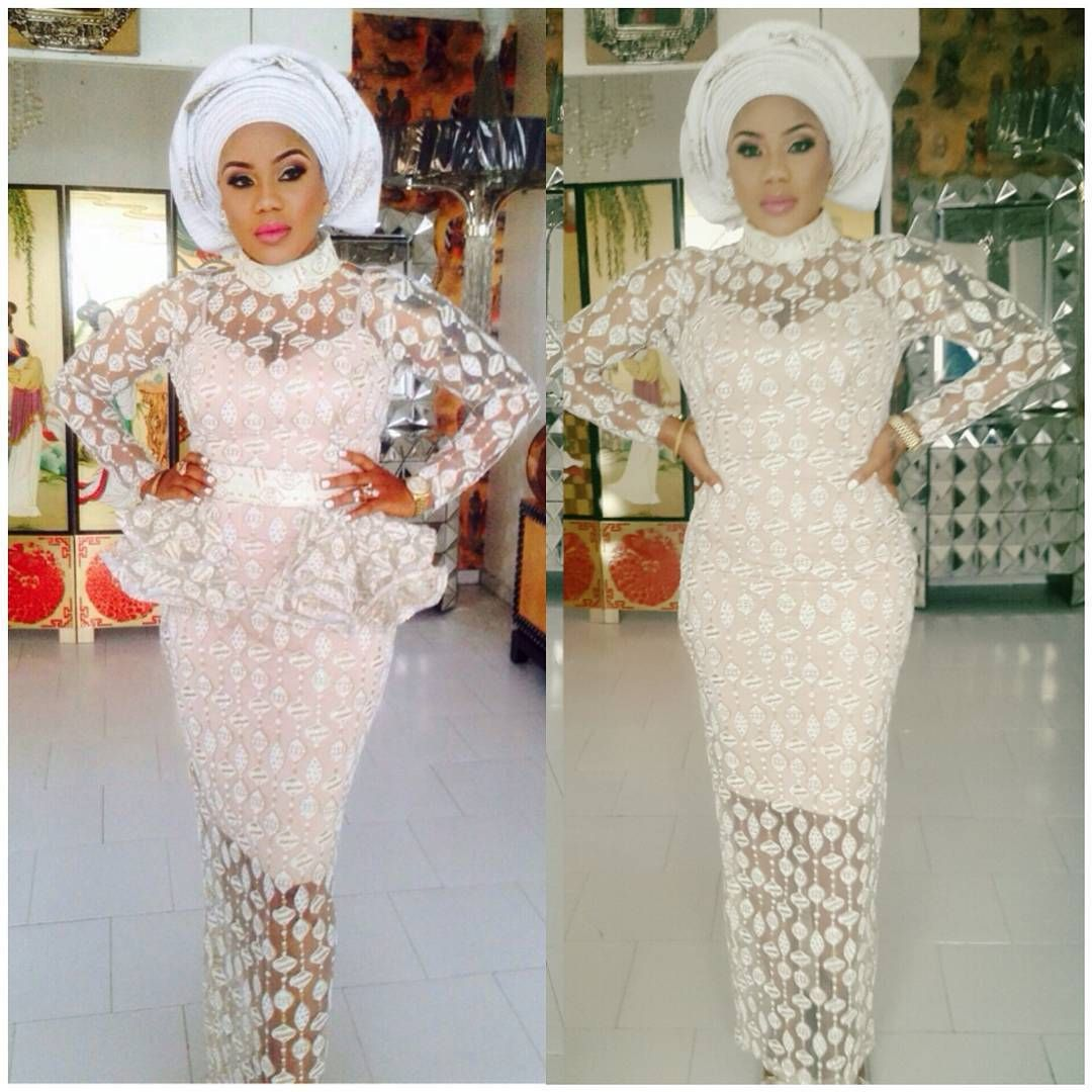 Lace Aso Ebi Styles For Wedding Guest Lace Dress Styles Lace Fashion Lace White Dress