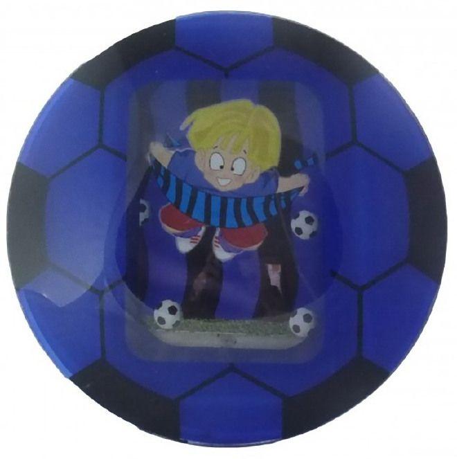 Portafoto Pallone da Calcio - Colore Nerazzurro - INTER - Cornice - Per foto 9x13 cm