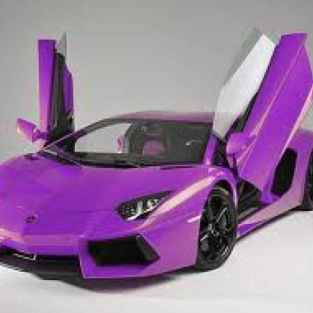 Purple Lambourghini- i think i could fly in this one