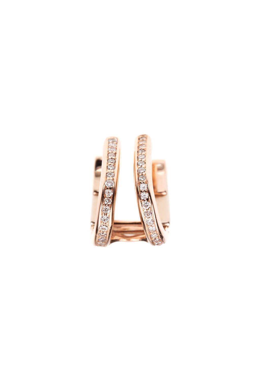 zeitlos elegante ohrmanschette rosegold diamanten