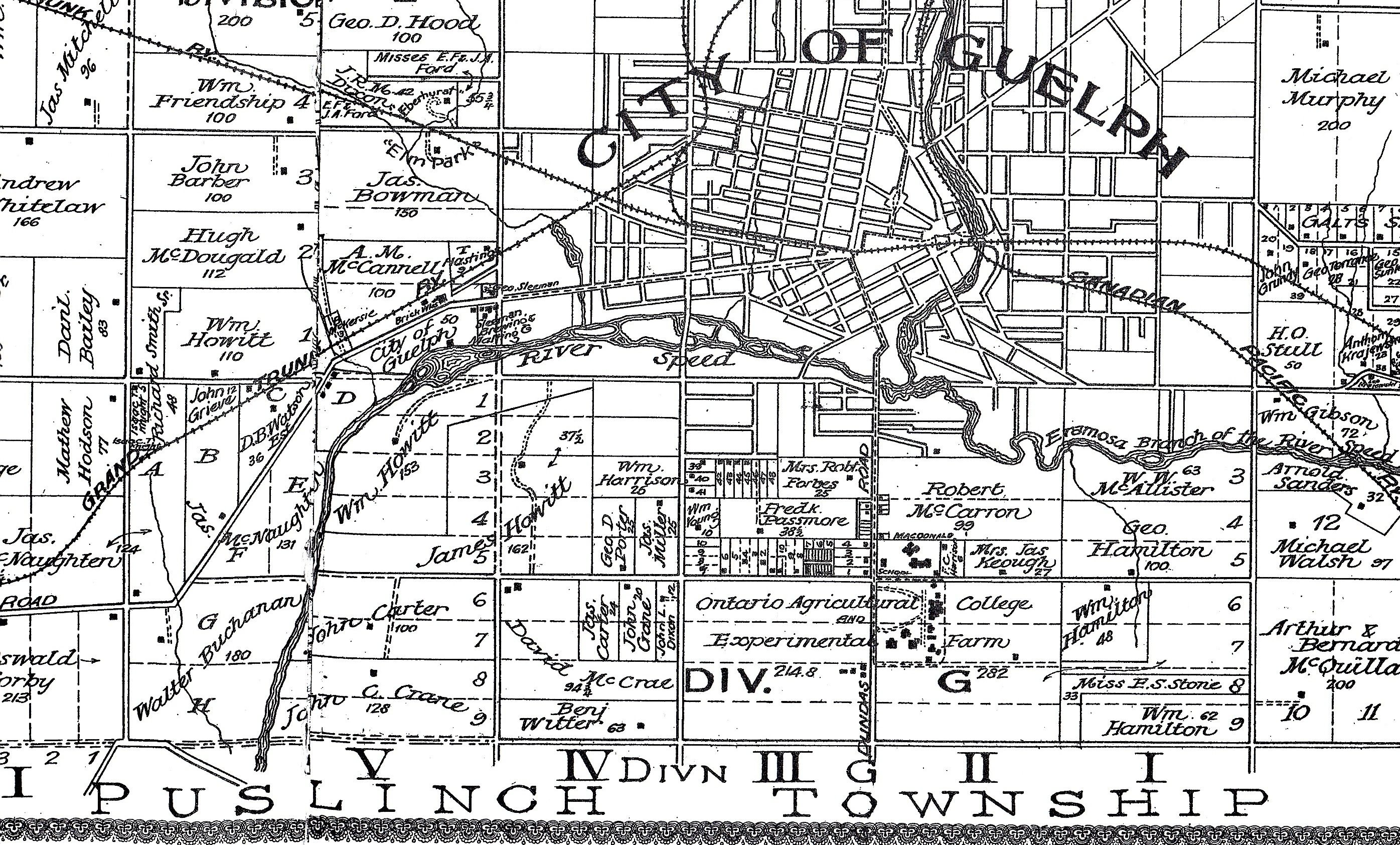 Guelph Canada Old Map Google Search Maps Pinterest - Guelph map