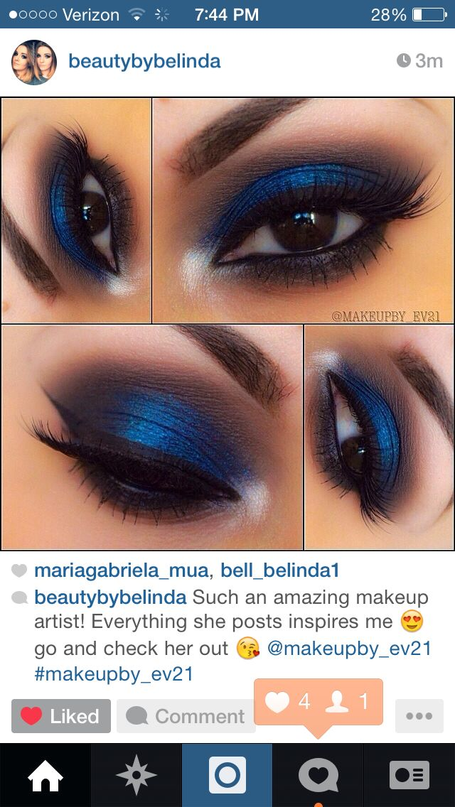 Blue And Black Eyeshadow Great For Brown Eyes Makeup Blue Eye