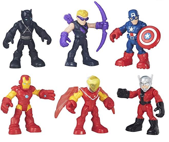 Marvel Super-Hero Adventures Black Panther Figure:Captain America:Spiderman