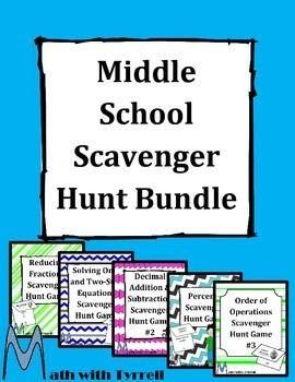 middle school scavenger hunt game bundle school scavenger hunt scavenger hunts and pi day. Black Bedroom Furniture Sets. Home Design Ideas