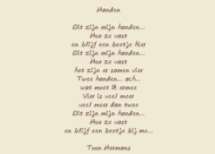 Vaak Toon Hermans Gedichten Vriend @IRN99 - AgnesWaMu #YO15