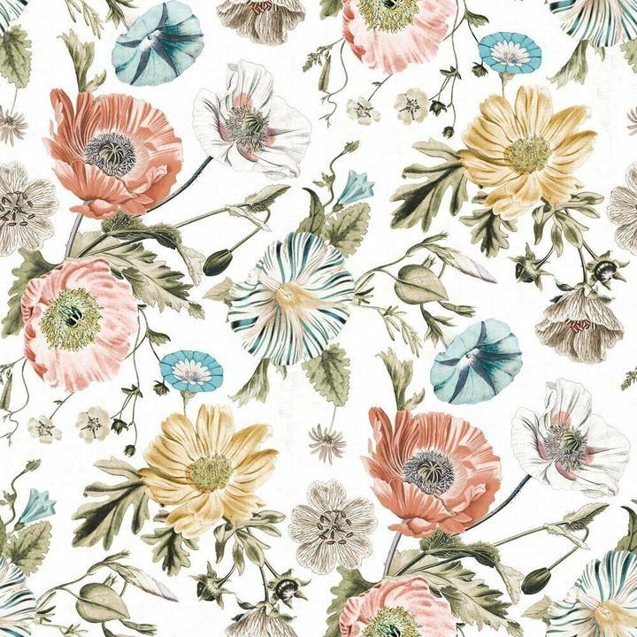 Vintage Poppy Peel And Stick Wallpaper In 2021 Floral Wallpaper Bedroom Peel And Stick Wallpaper Girls Room Wallpaper