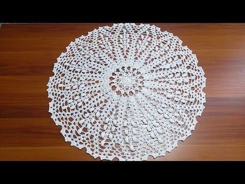 Rosetón tejido a Crochet