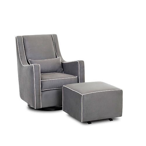 Love this glider. Modern and more affordable than others I have seen ...