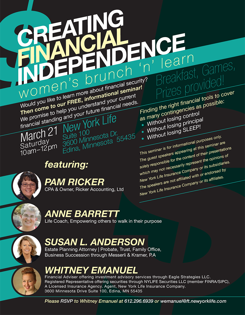 Financial Independence Seminar Flyer Google Search Financial