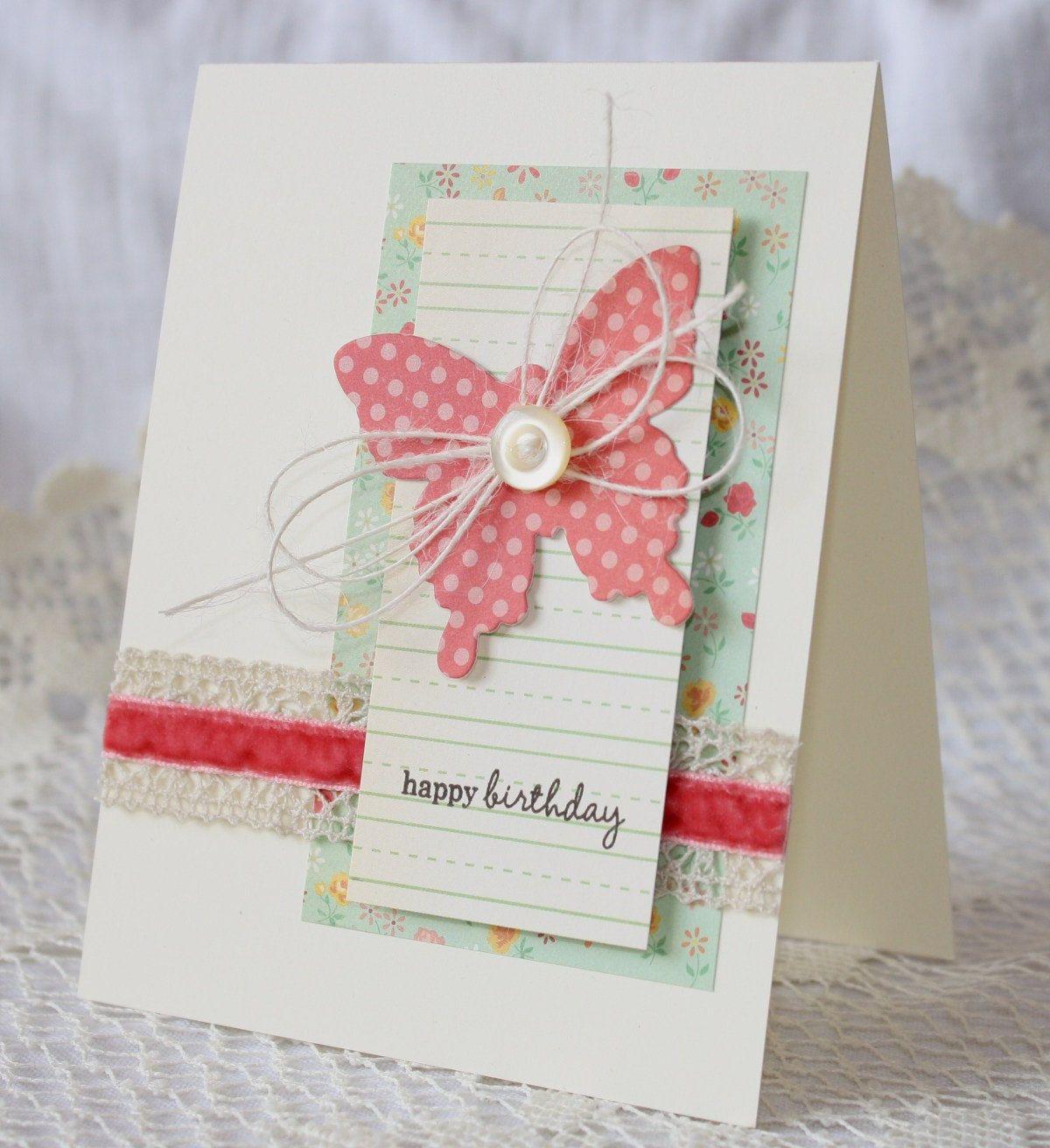 Handmade Happy Birthday Greeting Card. 3.50, via Etsy