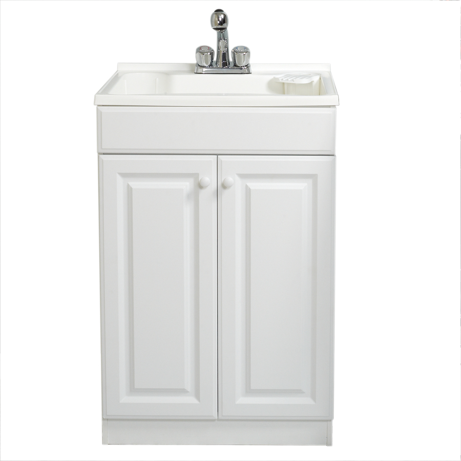 Charmant Shop Style Selections 24.25 In X 24.5 In White Freestanding Polypropylene  Utility Sink With Drain And Faucet At Lowes.com