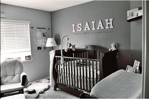 Isaiah's nursery.