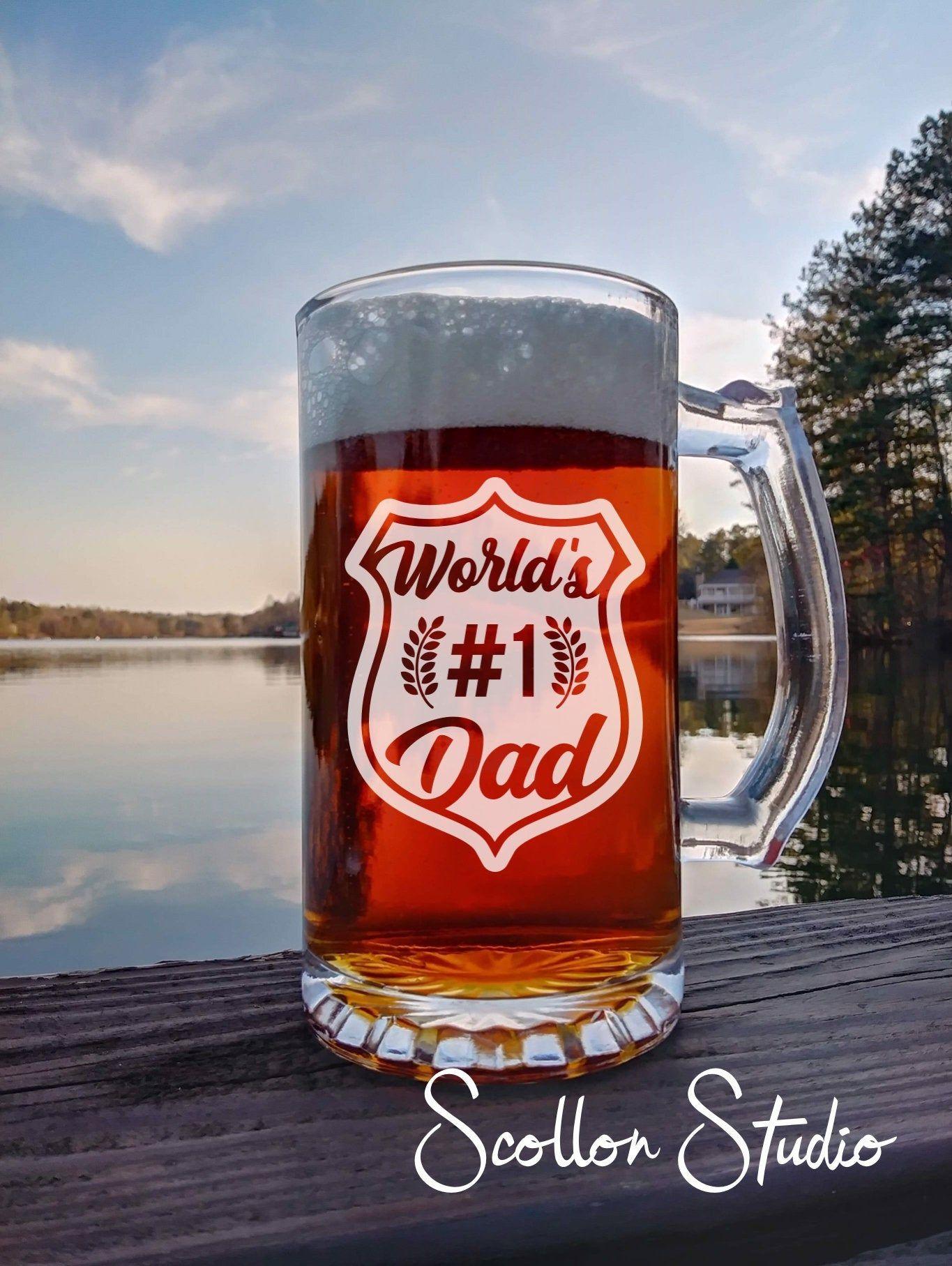 World S 1 Dad Beer Mug Beer Gift Police Gifts Etsy In 2020 Beer Gifts Firemen Gifts Beer