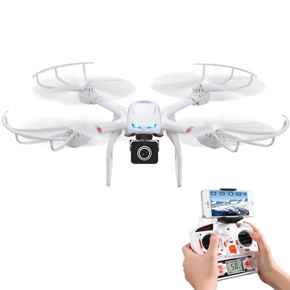 Amazon.com: Babrit Uplay FPV Wifi RC Quadcopter Remote Control Drone with HD 720P Camera One Key Return Function Headless Mode: Toys & Games