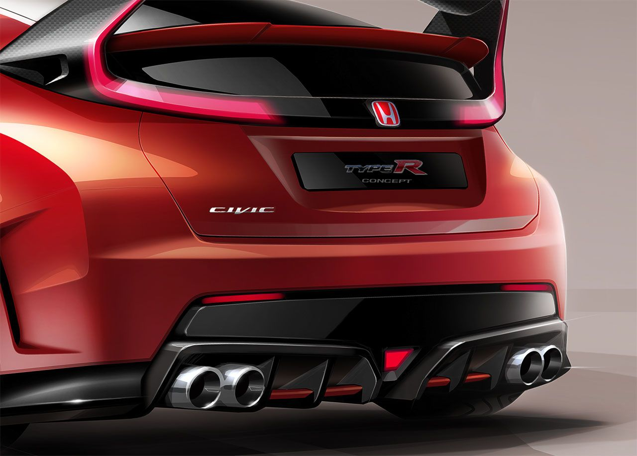 Honda speeds towards its dreams with new civic type r concept w videos honda honda civic and geneva