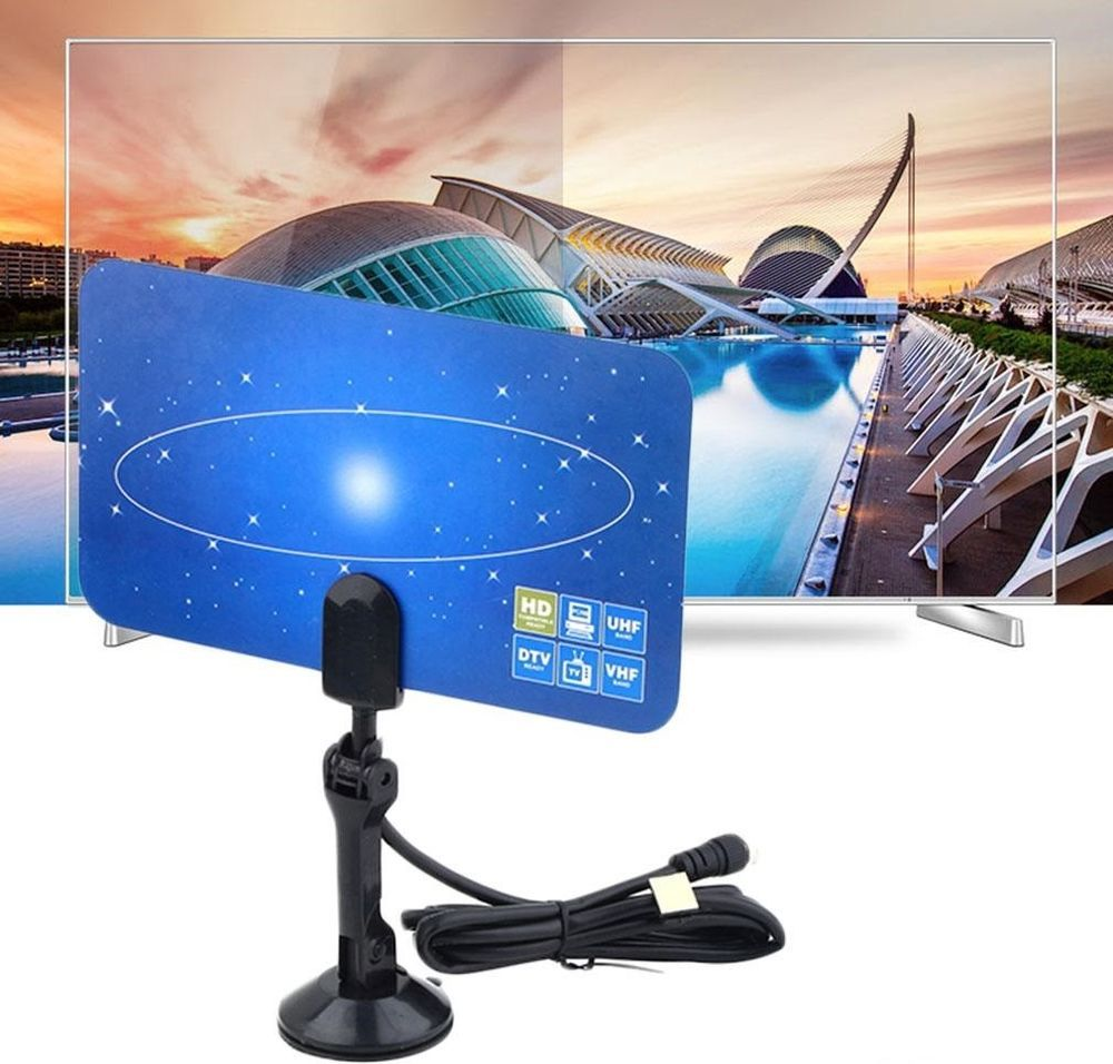Antenne TV Interieur Television Digitale HD/DTV/UHF/VHF/FM Haute ...