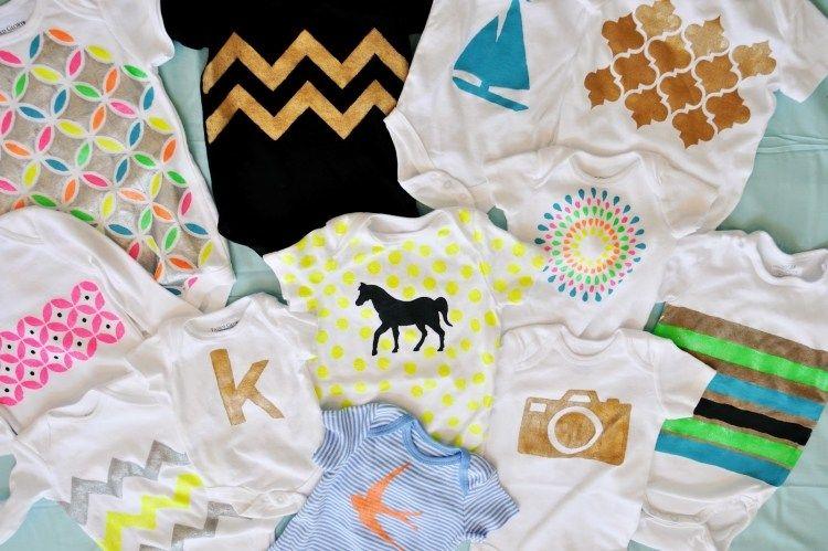 baby bodies selbst bemalen mit verschiedenen motiven baby kleidung pinterest verschiedenes. Black Bedroom Furniture Sets. Home Design Ideas