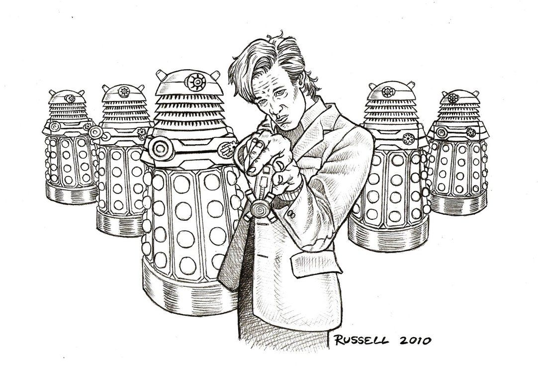 Doctor Who Dalek Coloring Pages | Doctor Who Vs The Daleks by ...