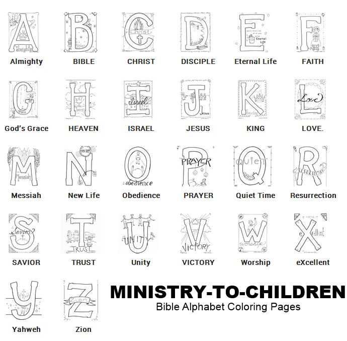 Bible Alphabet Coloring Pages | MINISTRY-TO-CHILDREN | Letters ...