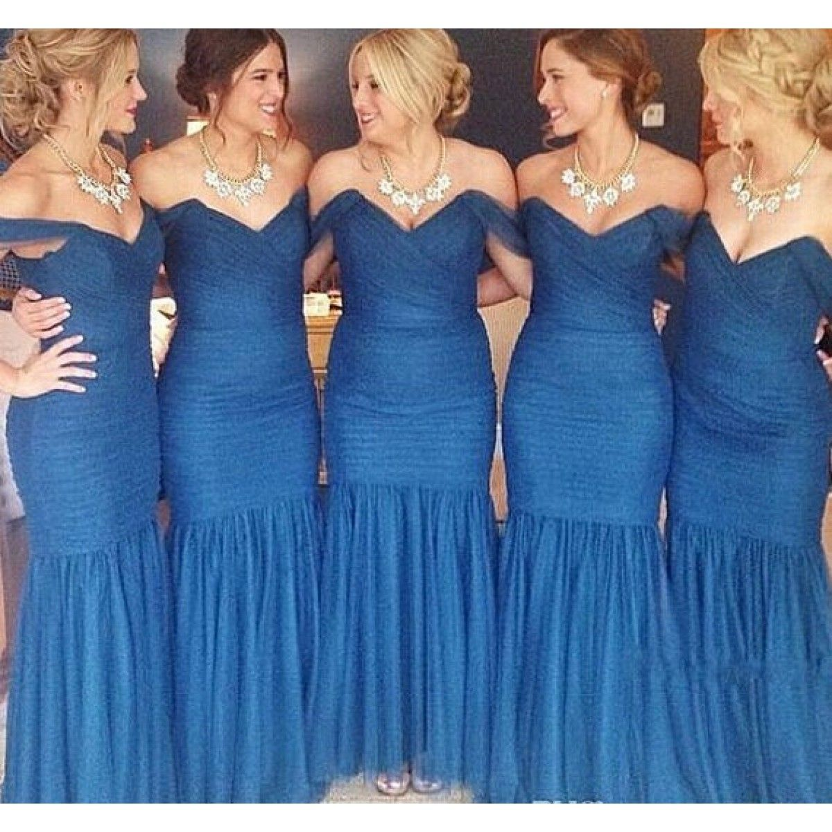Exquisite mermaid sweetheart straps royal blue tulle bridesmaid a variety of hot selling wedding dresses prom dressesspecial occasion dresses accessories and so on at reasonable prices and shipping them globally ombrellifo Images