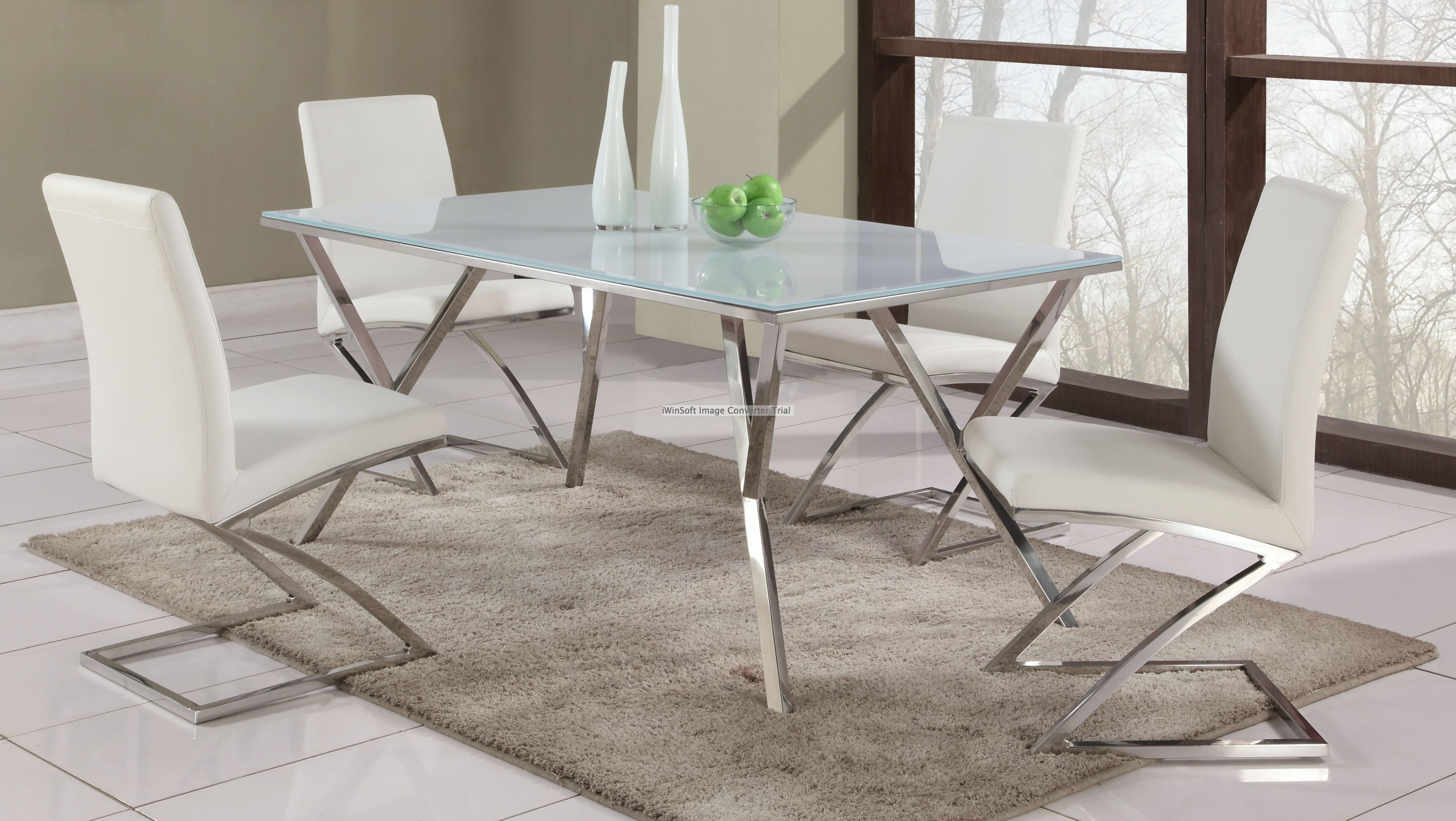 Jade Dining Set 5 Pieces Stainless Steel Dining Table Steel