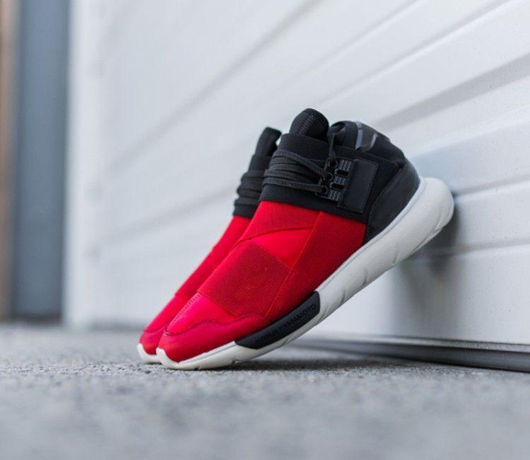 """02c412a666c95 adidas Y3 Qasa High """"Black   Red"""""""