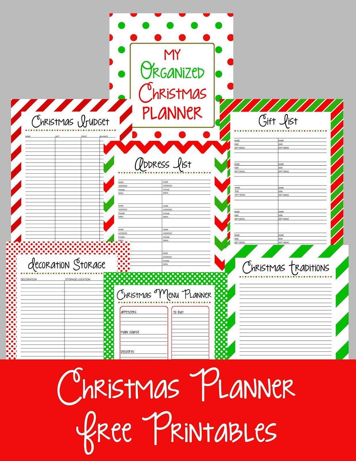 Christmas Planner Free Printables 1 237 1 600 Pixels
