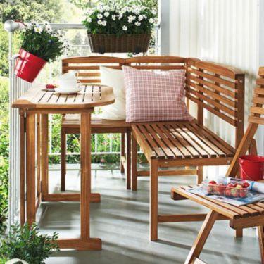 Balkon Sitzgruppe Aus Akazie Mit Eckbank Und Tisch Dekor Sitzgruppe Sitzecke