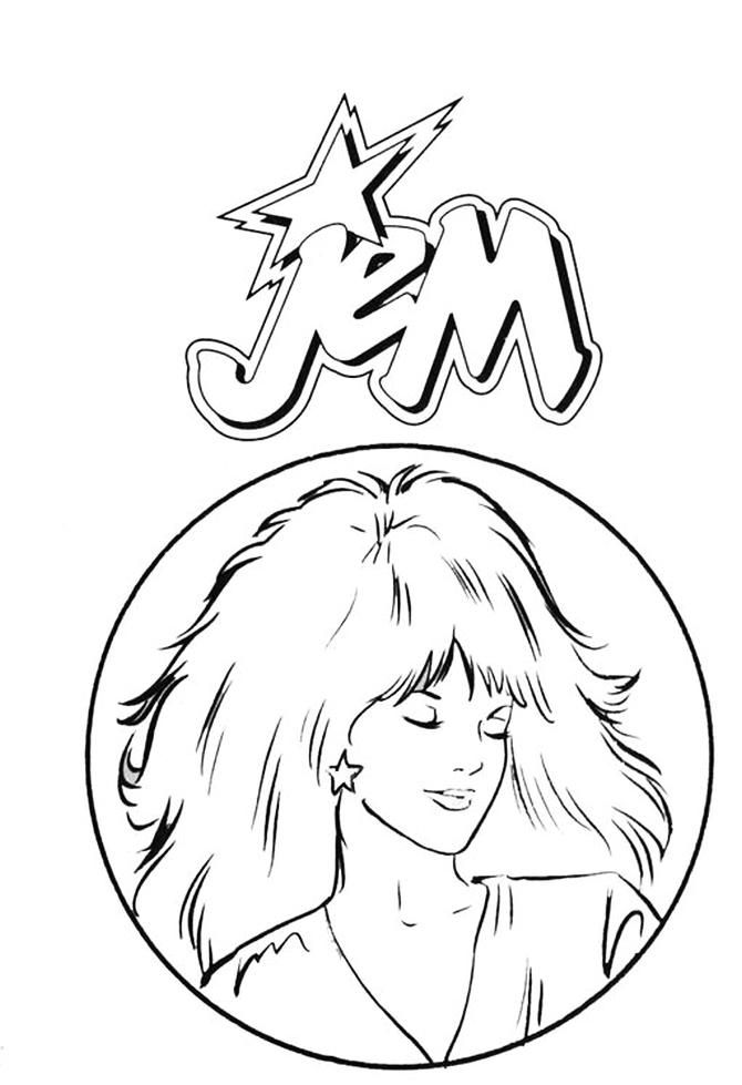 image regarding Printable Holograms named Jem The Holograms coloring webpages Jem And The Holograms