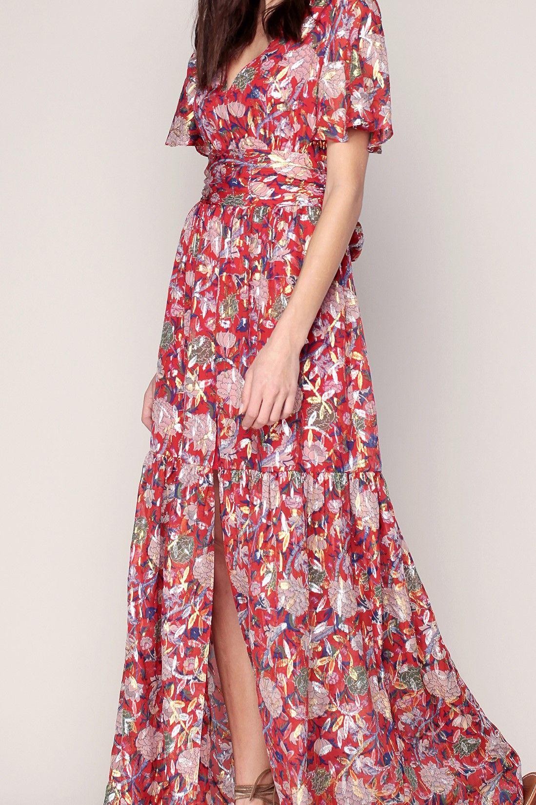 767d7372324 A louer sur La Fashion Lib   Robe Bash - modèle Jessy  maxi robe soie